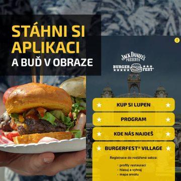 Burgerfest appku musíš mít!