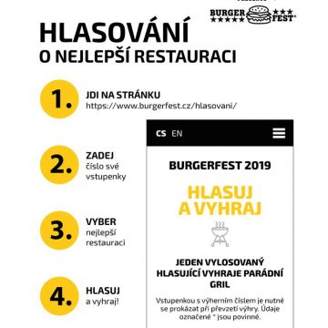 Hlasuj o nejlepší restauraci Burgerfestu!