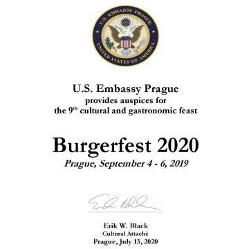 Máme opět záštitu US Ambasády!